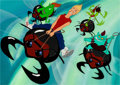 Animation Art:Color Model, FernGully, The Last Rainforest Zak and The Beetle Boys ColorModel Cel Setup and Preliminary Production Background (Kr...