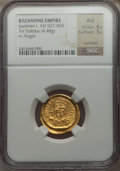 Ancients:Byzantine, Ancients: Justinian I the Great (AD 527-565). AV solidus (4.48gm)....