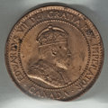 Canada: Edward VII Cent 1907-H MS64 Red ICCS