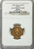 India:Princely States - Jaipur, India: Jaipur. Man Singh II Proof Anna 1944 PR65 NGC,...