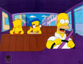 "Animation Art:Production Cel, The Simpsons ""Parent Rap"" Homer, Bart, and MillhouseProduction Cel (Fox, 2001)...."