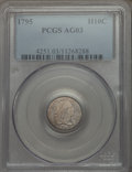 Early Half Dimes: , 1795 H10C AG3 PCGS. PCGS Population (8/571). NGC Census: (0/317).Mintage: 78,600. Numismedia Wsl. Price for problem free N...