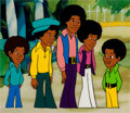 Animation Art:Production Cel, The Jackson 5ive Production Cel Setup (Rankin-Bass,1971)....