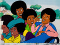 Animation Art:Production Cel, The Jackson 5ive Production Cels Setup (Rankin-Bass,1971).... (Total: 5 )