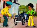 Animation Art:Production Cel, The Jackson 5ive Michael and Jermaine Production Cel Setup(Rankin-Bass 1971)....