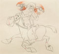 Animation Art:Production Drawing, Melody Time Pecos Bill and Widowmaker Animation Drawing(Walt Disney, 1948)....
