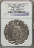 Netherlands East Indies, Netherlands East Indies: Dutch Colony. Utrecht 3 Gulden 1786-VOC AUDetails (Surface Hairlines) NGC,...