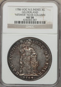 Netherlands East Indies, Netherlands East Indies: Dutch Colony. Gelderland 3 Gulden 1786-VOCAU58 NGC,...