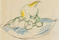Animation Art:Production Drawing, The Reluctant Dragon Baby Weems Animation Drawing (WaltDisney, 1941)....
