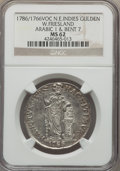 Netherlands East Indies, Netherlands East Indies: Dutch Colony. Westfriesland Gulden1786/1766-VOC MS62 NGC,...