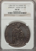 Netherlands East Indies, Netherlands East Indies: Dutch Colony. Utrecht 3 Gulden 1786-VOCAU50 NGC,...
