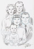 Original Comic Art:Sketches, John Romita Sr. Peter Parker and Parker Family PortraitSketch Original Art (undated)....