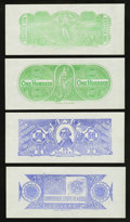Confederate Notes:Group Lots, Set of Six Chemicograph Backs Intended for Confederate Paper MoneyPart II.. ... (Total: 10 items)