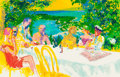 Fine Art - Work on Paper:Print, LeRoy Neiman (American, 1921-2012). Wine Alfresco, 1999.Silkscreen in colors on paper. 21-1/2 x 33 inches (54.6 x 83.8 ...
