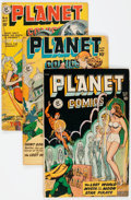 Golden Age (1938-1955):Science Fiction, Planet Comics #56, 57, and 61 Group (Fiction House, 1948-49)Condition: Average VG-.... (Total: 3 Comic Books)