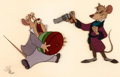 Animation Art:Production Cel, The Great Mouse Detective Basil and Dawson Production Cel Setup(Walt Disney, 1986)....