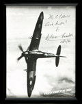Books:Prints & Leaves, [World War II, Aviation]. Framed Photocopy of Inscribed Photograph.. ...