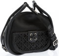 """Luxury Accessories:Accessories, Dior Black Leather Cannage Lattice Shoulder Bag with SilverHardware. Excellent Condition. 9"""" Width x 9"""" Height x 4""""D..."""