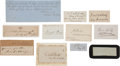 Military & Patriotic:Civil War, [Stonewall Jackson]. Set of 60 Confederate Cut Signatures....