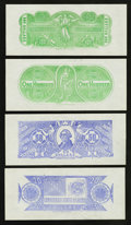 Confederate Notes:Group Lots, Set of Six Chemicograph Backs Intended for Confederate Paper MoneyPart I.. ... (Total: 10 items)