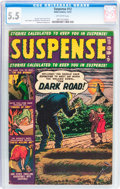 Golden Age (1938-1955):Horror, Suspense #12 (Atlas, 1951) CGC FN- 5.5 Off-white pages....