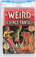 Golden Age (1938-1955):Science Fiction, Weird Science-Fantasy Annual #1 (EC, 1952) CGC VG 4.0 Cream tooff-white pages....