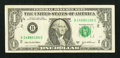 Error Notes:Ink Smears, Fr. 1930-B $1 2003A Federal Reserve Note. Very Fine.. ...