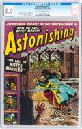 Golden Age (1938-1955):Horror, Astonishing #11 (Atlas, 1952) CGC VG/FN 5.0 Cream to off-whitepages....