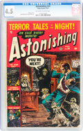 Golden Age (1938-1955):Horror, Astonishing #24 (Atlas, 1953) CGC VG+ 4.5 Off-white to whitepages....