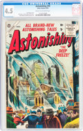 Golden Age (1938-1955):Science Fiction, Astonishing #40 (Atlas, 1955) CGC VG+ 4.5 Cream to off-whitepages....
