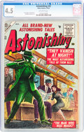 Golden Age (1938-1955):Science Fiction, Astonishing #42 (Atlas, 1955) CGC VG+ 4.5 Off-white pages....