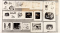 animation art:Model Sheet, Mary Blair and Retta Scott Cinderella Concept/Layout Model Sheet Group of 2 (Walt Disney/Golden Press, 1950).... (Total: 2 Items)