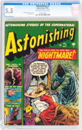 Golden Age (1938-1955):Horror, Astonishing #7 (Atlas, 1951) CGC FN- 5.5 Off-white to whitepages....