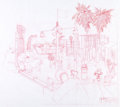 Animation Art:Concept Art, Disney's California Adventure Concept Sketch Group of 4(Walt Disney, 1998)....