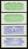 Confederate Notes:Group Lots, Set of Six Chemicograph Backs Intended for Confederate Paper MoneyPart III.. ... (Total: 10 items)