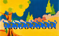 """Animation Art:Production Cel, The Beatles Yellow Submarine """"All Too Much"""" Cat MonstersProduction Cel Setup (United Artists/King Features, 1968)..."""
