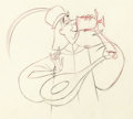 Animation Art:Production Drawing, Sleeping Beauty Drunken Lackey Animation Drawing (WaltDisney, 1959)....