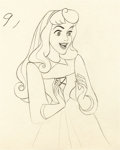 Animation Art:Production Drawing, Sleeping Beauty Princess Aurora as Briar Rose AnimationDrawing (No Publisher, 1959)....