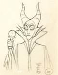 Animation Art:Production Drawing, Sleeping Beauty Maleficent Animation Drawing (Walt Disney, 1959)....
