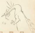 Animation Art:Production Drawing, Sleeping Beauty Maleficent as the Dragon Animation Drawing(Walt Disney, 1959)....