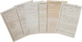 Military & Patriotic:Civil War, Military Records for Thaddeus Hadden and other Union Soldiers. ... (Total: 14 Items)