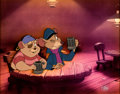 Animation Art:Production Cel, The Great Mouse Detective Basil and Dawson Production CelSetup (Walt Disney, 1986)....