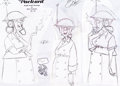 animation art:Model Sheet, Atlantis: The Lost Empire Packard Model Sheets (Walt Disney,2001).... (Total: 2 )