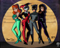 Animation Art:Limited Edition Cel, Batman: The Animated Series Villainess Line-Up LimitedEdition Cel (Warner Brothers, 1998)....