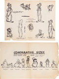 animation art:Model Sheet, Mr. Bug Goes to Town Model Sheets Group of 10 (Fleischer,1941).... (Total: 10 Items)