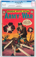 Golden Age (1938-1955):War, Our Army at War #1 (DC, 1952) CGC VG 4.0 Cream to off-whitepages....
