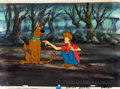Animation Art:Production Cel, The 13 Ghosts of Scooby-Doo Scooby-Doo and Shaggy ProductionCel and Master Background Setup (Hanna-Barbera, 1985)....