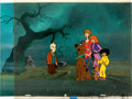 Animation Art:Production Cel, The 13 Ghosts of Scooby-Doo Production Cel and BackgroundSetup (Hanna-Barbera, 1985)....