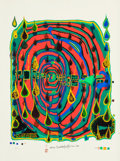 Post-War & Contemporary:Contemporary, Friedensreich Hundertwasser (Austrian, 1928-2000). Sad not sosad is rainshine (from Rainday on a rainy day), 1968....