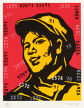Prints, Guangyi Wang (Chinese, b. 1957). Belief Girl No. 6, 2006. Lithograph in colors on paper. 19-1/2 x 15-3/4 inches (49.5 x ...